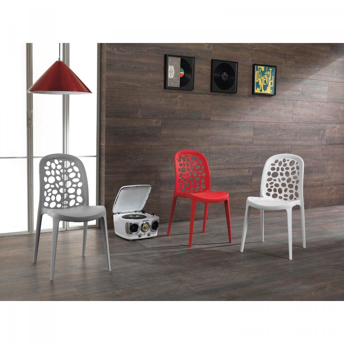 Sedia stones holes plastica design impilabile sedie a prezzi scontati - Sedie plastica design ...