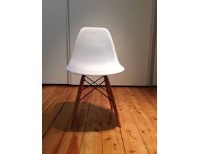 Sedia tipo Vitra Plastic side Chair di Charles Eames scontata del 50%