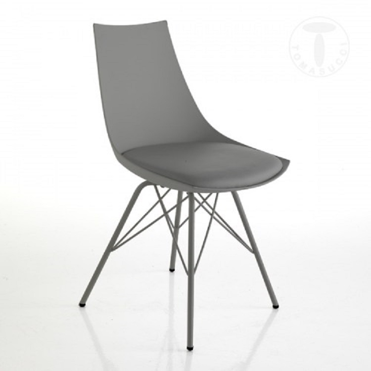 Sedia tomasucci modello kiki grey sedie a prezzi scontati for Sedie moderne prezzi