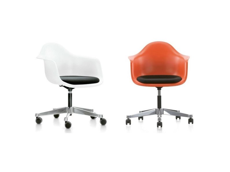 SEDIA Vitra Eames plastic armchair pacc - design vitra ...