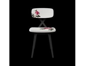 Sedia X chair white flower  Artigianale SCONTATA a PREZZI OUTLET