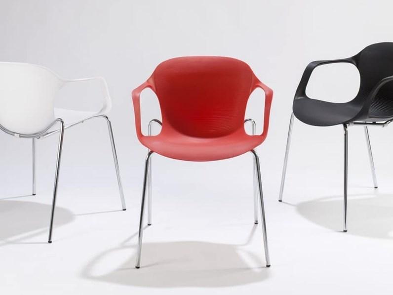 Sedie Ufficio Colorate : Sedie colorate mael in plastica con uno sconto del