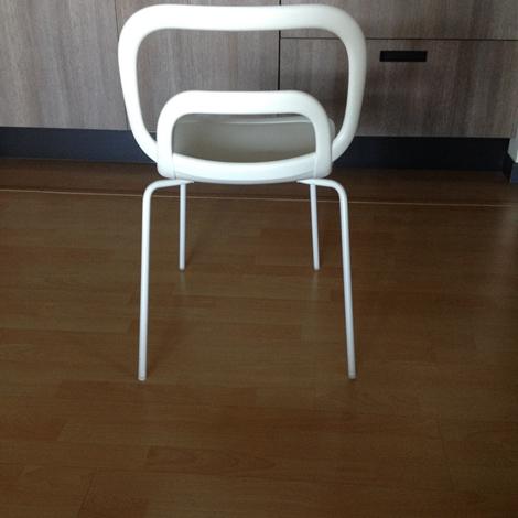 Sedie bianche moderne ciacci scontate del 50 sedie a for Sedie bianche cucina