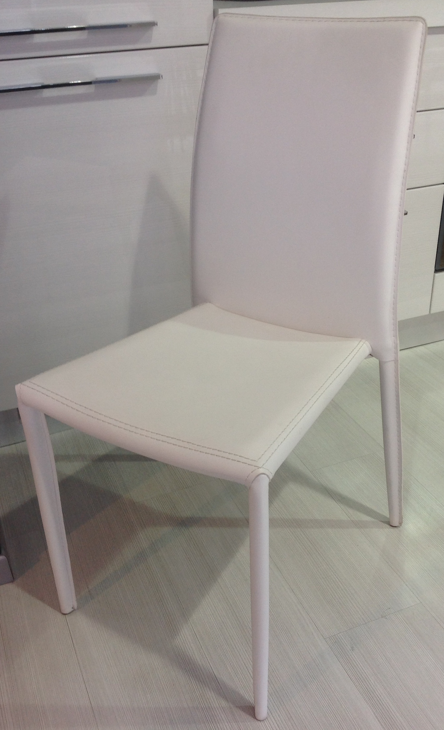 Sedie da cucina in ecocuoio colore bianco - Sedie a prezzi scontati