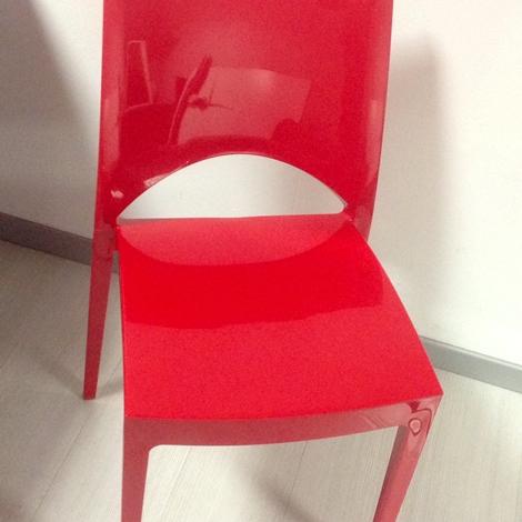 Sedie da cucina rosse modello Marzia - Sedie a prezzi scontati