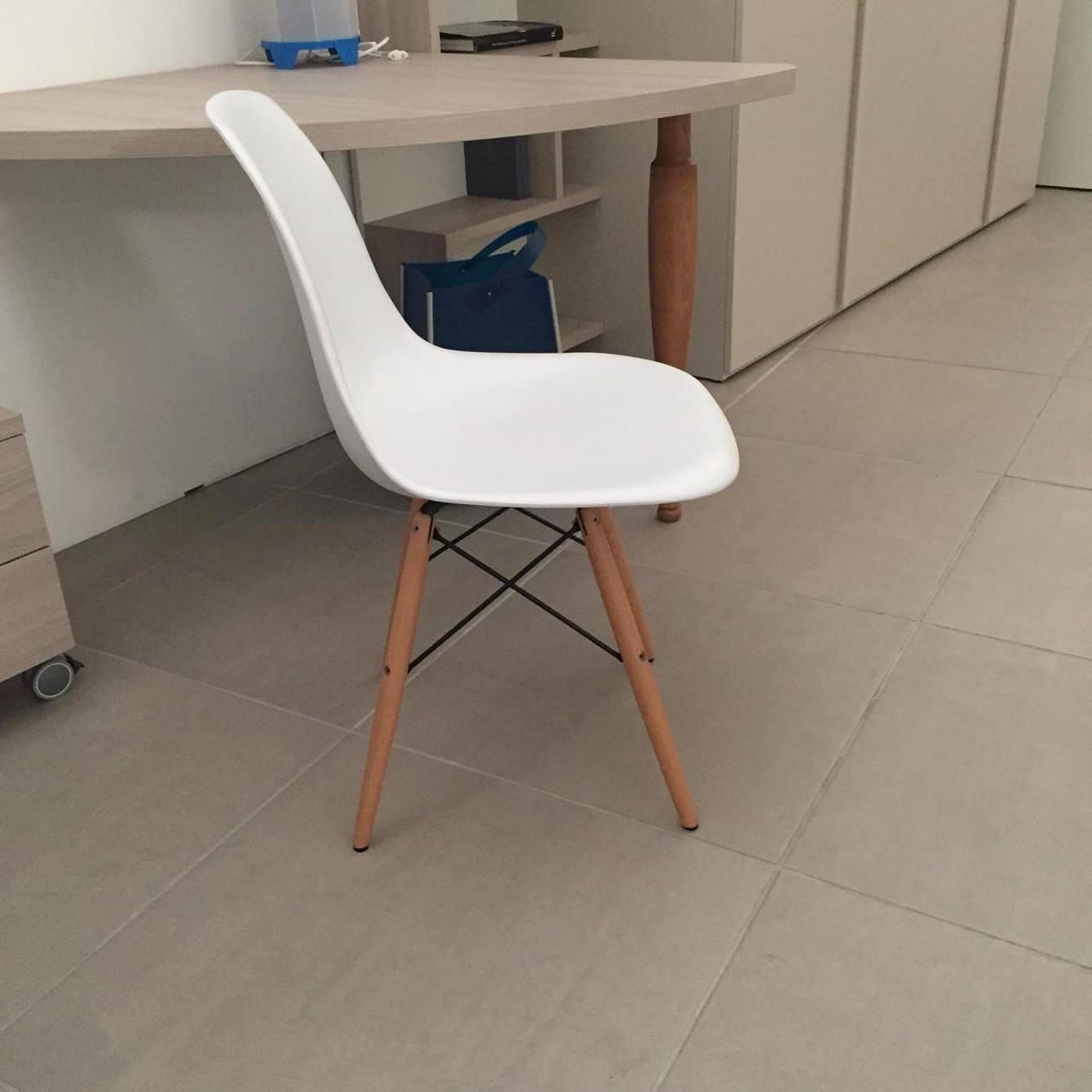 Sedie di design dsw in polipropilenee e legno di faggio for Design sedie