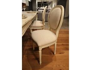 Sedie modello Luigi XVI  in legno massello di Produzione Artigianale rivestite in lino. offerta Outlet Mobilgross. Scontate del -42%