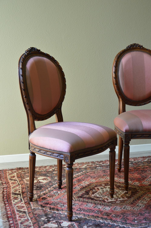 Sedie modello luigi xvi in legno massello scontate del for Sedie in legno massello prezzi