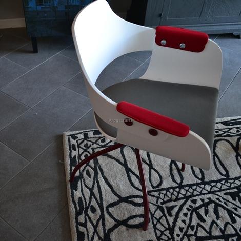 Sedie roja 4pz bd barcellona sedie a prezzi scontati for Sedia barcellona