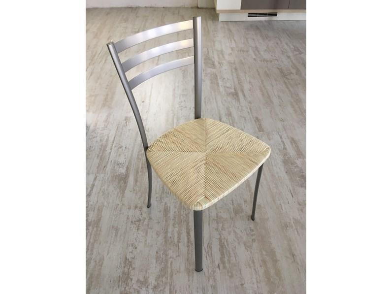Sedie In Metallo Da Cucina : Sedie scavolini mod speedy metallo verniciato seduta in paglia