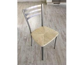 Sedia sgabello legno massello con seduta paglia quadrato h