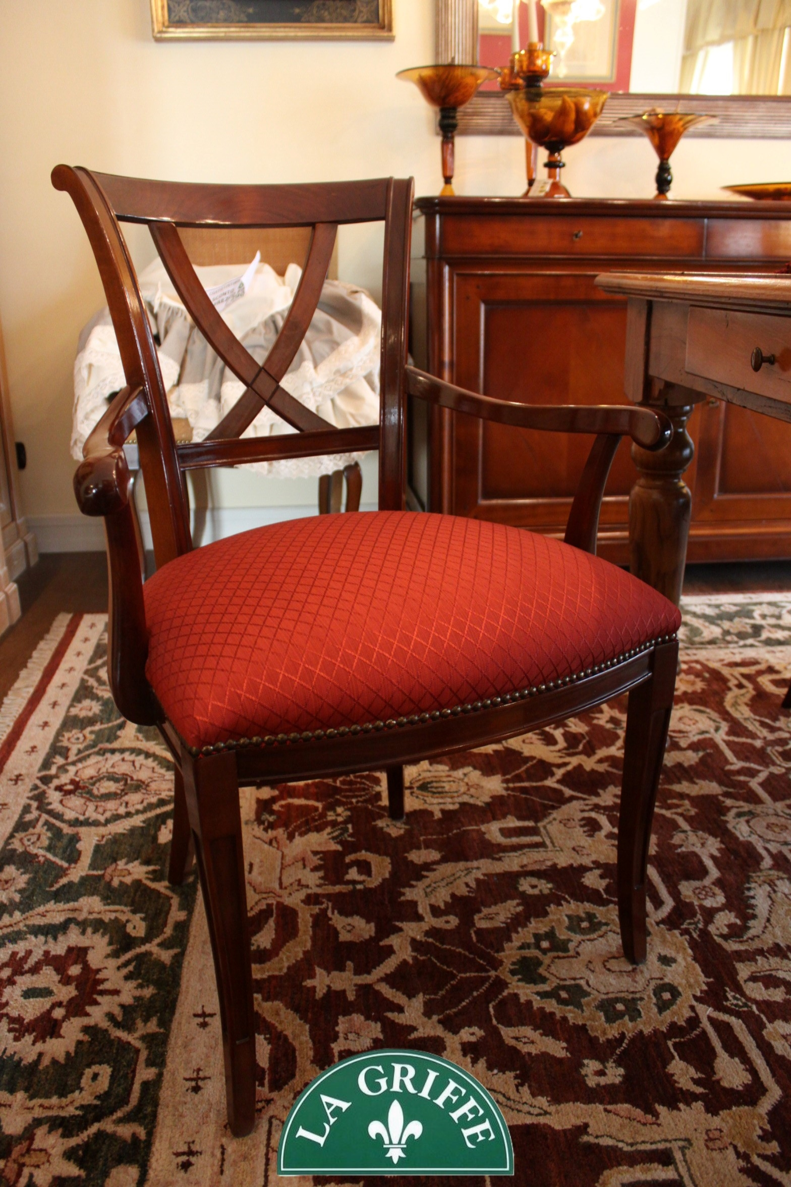 Set 6 sedie 2 poltroncine capotavola 4 sedie in ciliegio - Sedie capotavola ...