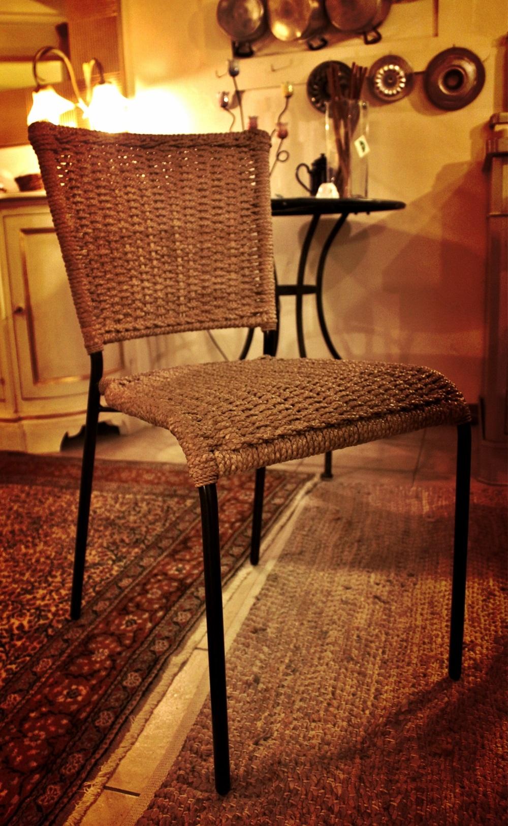 Set 2 sedie rustiche in corda intrecciata  elite in offerta al 60 ...