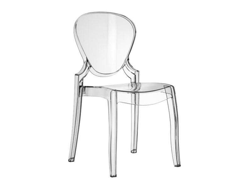 Set 4 sedie Pedrali Queen 650 trasparenti - Sedie a prezzi scontati