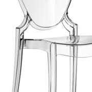 Set 4 sedie Pedrali Queen 650 trasparenti