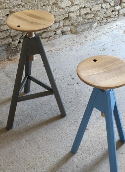 Set di 2 sgabelli alti design by miniforms nuovi a for Sgabelli alti legno