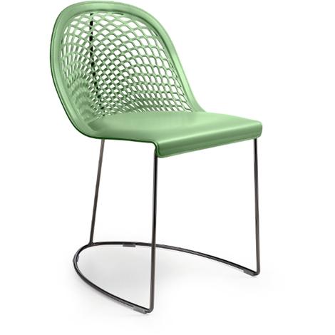 Set di 4 sedie by midj con seduta in cuoio nuove a prezzo for Sedie cuoio prezzi