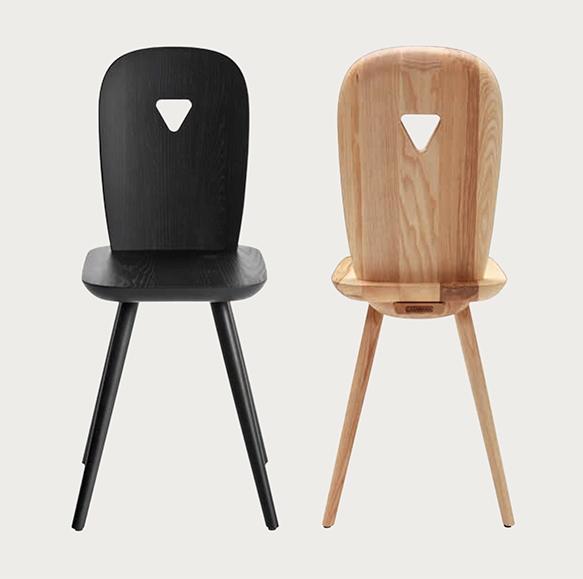 Set di 4 sedie in legno di frassino modello la dina for Sedie di design in legno