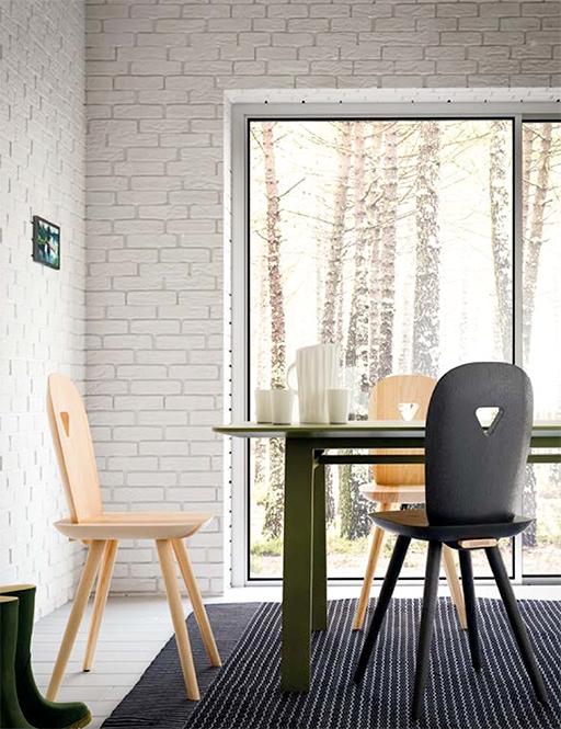 Set di 4 sedie in legno di frassino modello la dina - Sedie in legno design ...