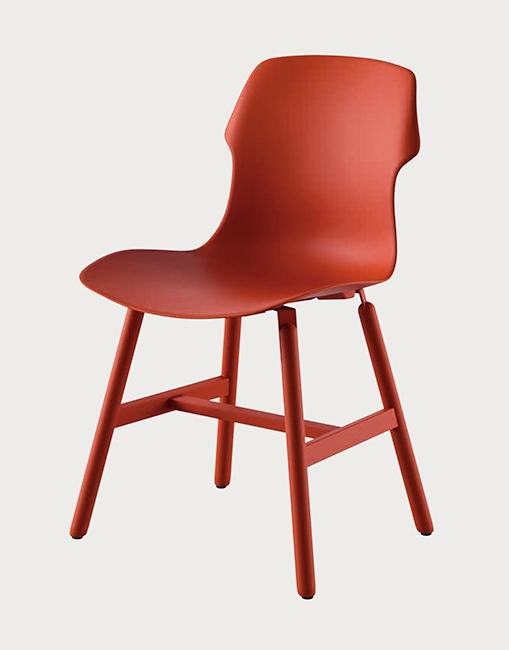 Set di 4 sedie modello di alto design con struttura in for Sedie di design