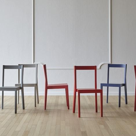 Set di 6 sedie emilia by miniformos design nuova a prezzo for Design scontato