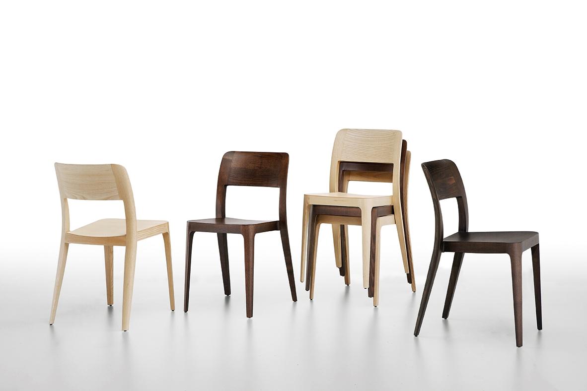 Set di 6 sedie impilabili in legno by midj design nuove - Sedie in legno design ...