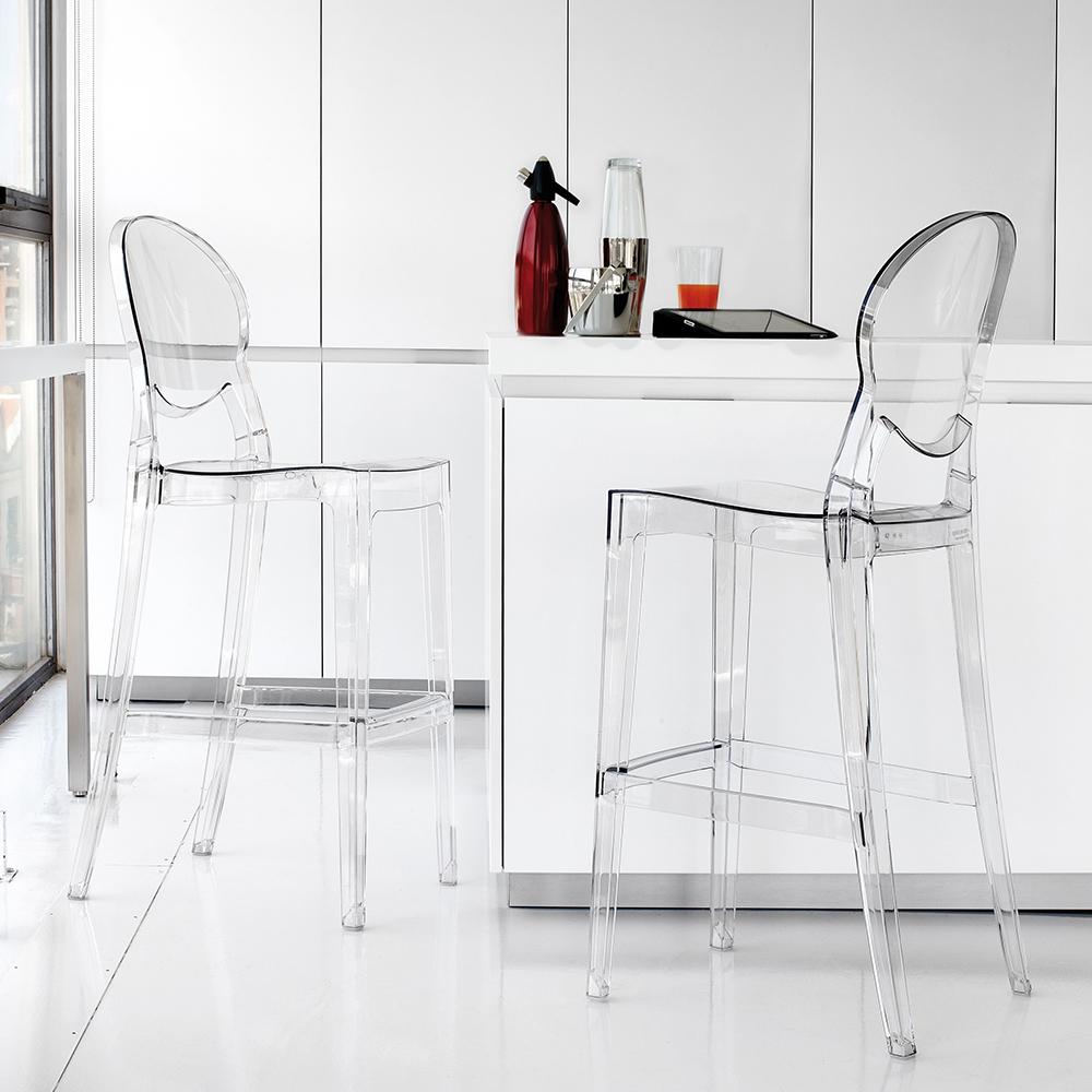 Sgabello laseggiola modello ink stool sedie a prezzi for Sedie plastica trasparente design