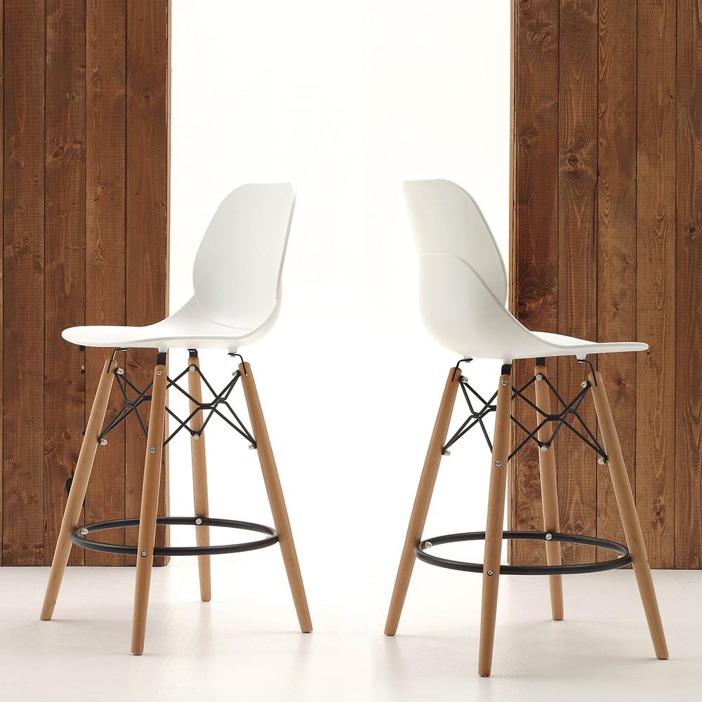 Sgabello laseggiola modello shell stool sedie a prezzi for Prisma arredo negozi