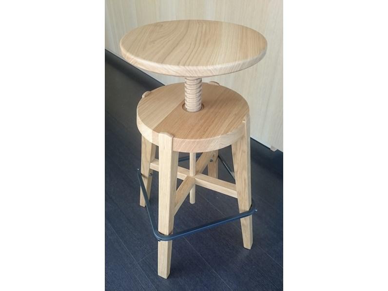 Sgabello Regolabile Legno : Design paolo cappello sgabello in legno con seduta a vite