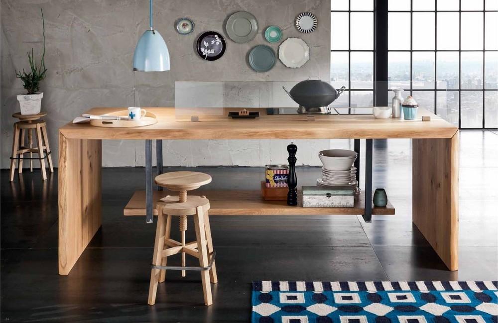 Sgabelli In Legno Per Cucina. Sgabello In Legno Design Azzurro With ...