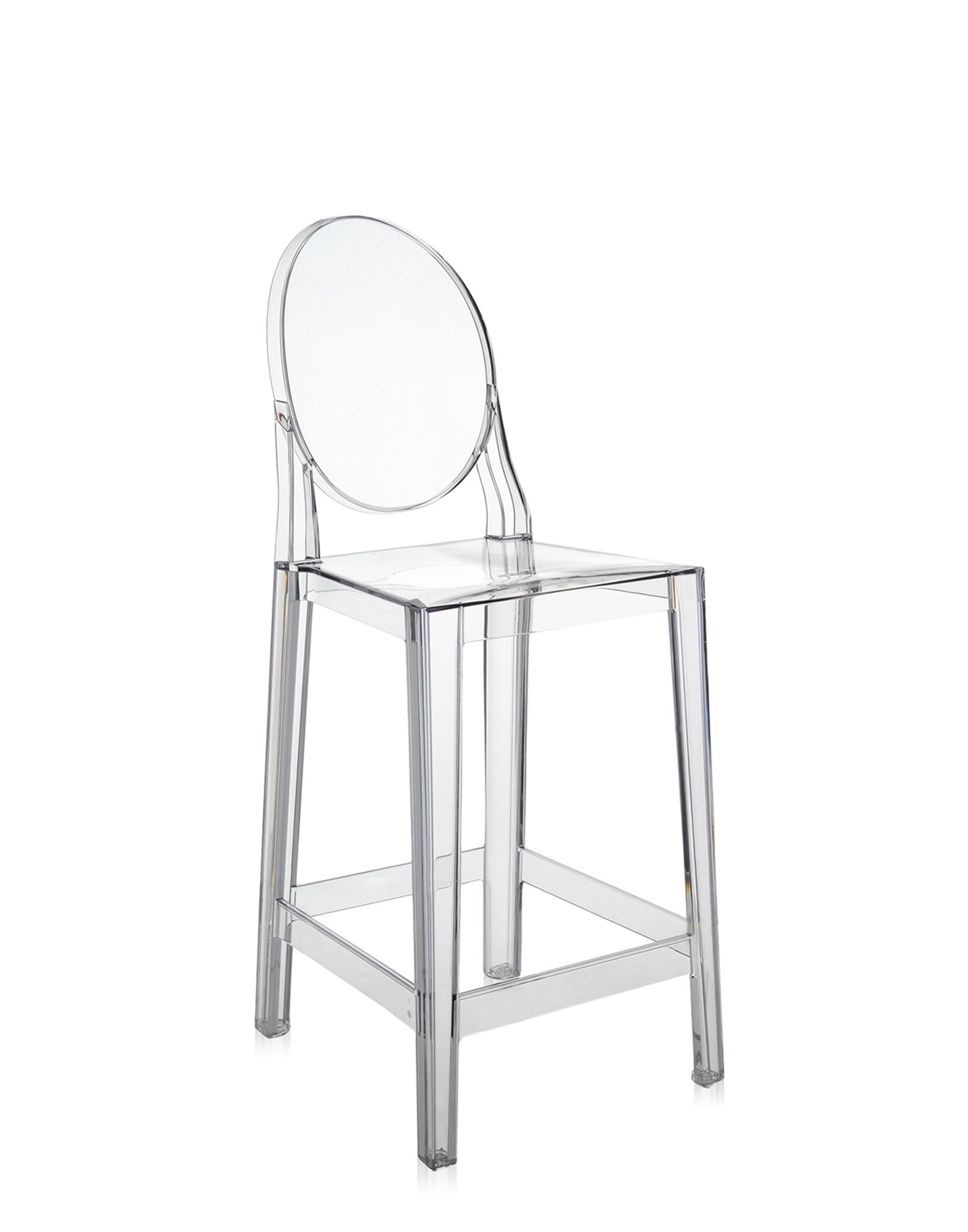 Sgabello one more di kartell in policarbonato trasparente for Sgabelli kartell outlet