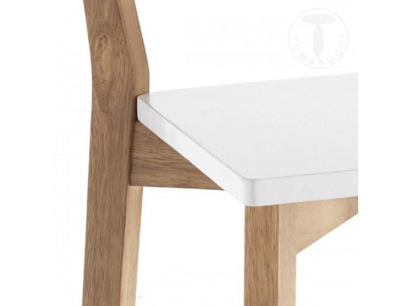 Sgabello tomasucci modello kyra wood