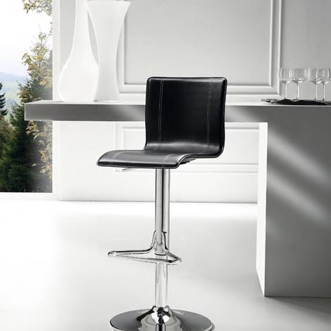 SUPER OFFERTA Sgabello con seduta in rigenerato di cuoio - Sedie a prezzi scontati