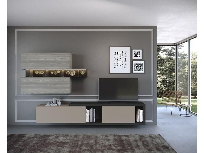 Soggiorno Completo Modello Composizione 2 In Stile Moderno Di Artigianale A Prezzi Outlet