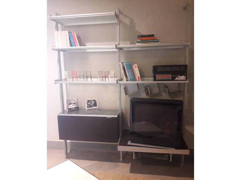 Libreria longhi vertical mht7 longhi in metallo porta tv for Longhi arredamenti