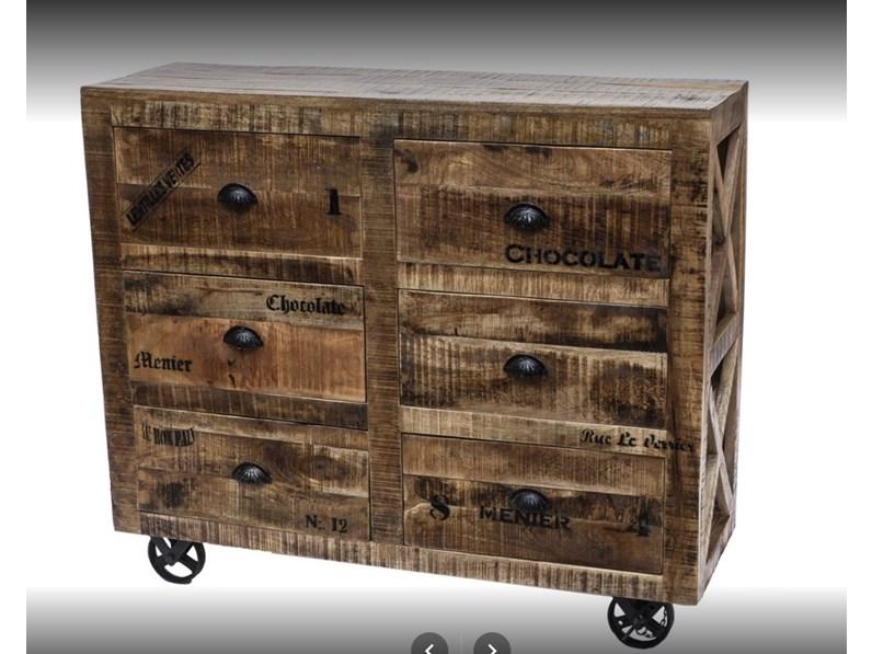 Mobile Credenza Con Ruote : Mobile cassettiera industrial con ruote cass in offerta outlet