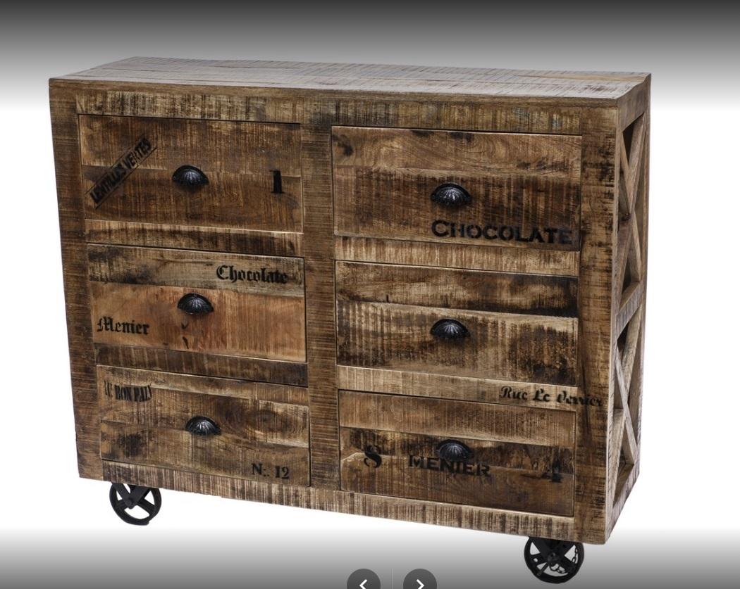 mobile cassettiera industrial con ruote 6 cass in offerta