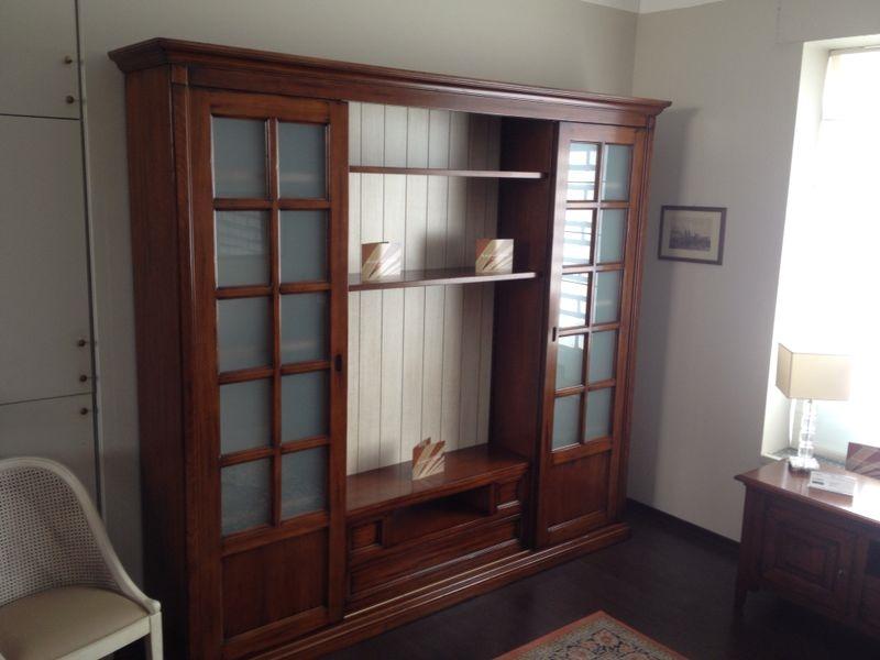 Parete attrezzata porta tv libreria outlet sconto soggiorni a prezzi scontati - Parete attrezzata classica prezzi ...