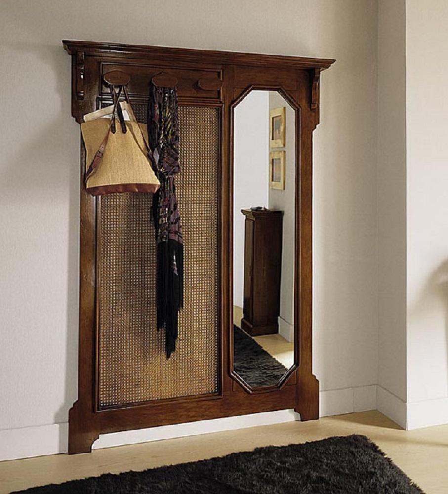 Soggiorno Appendiabiti in cannettè e specchio scontato del ...