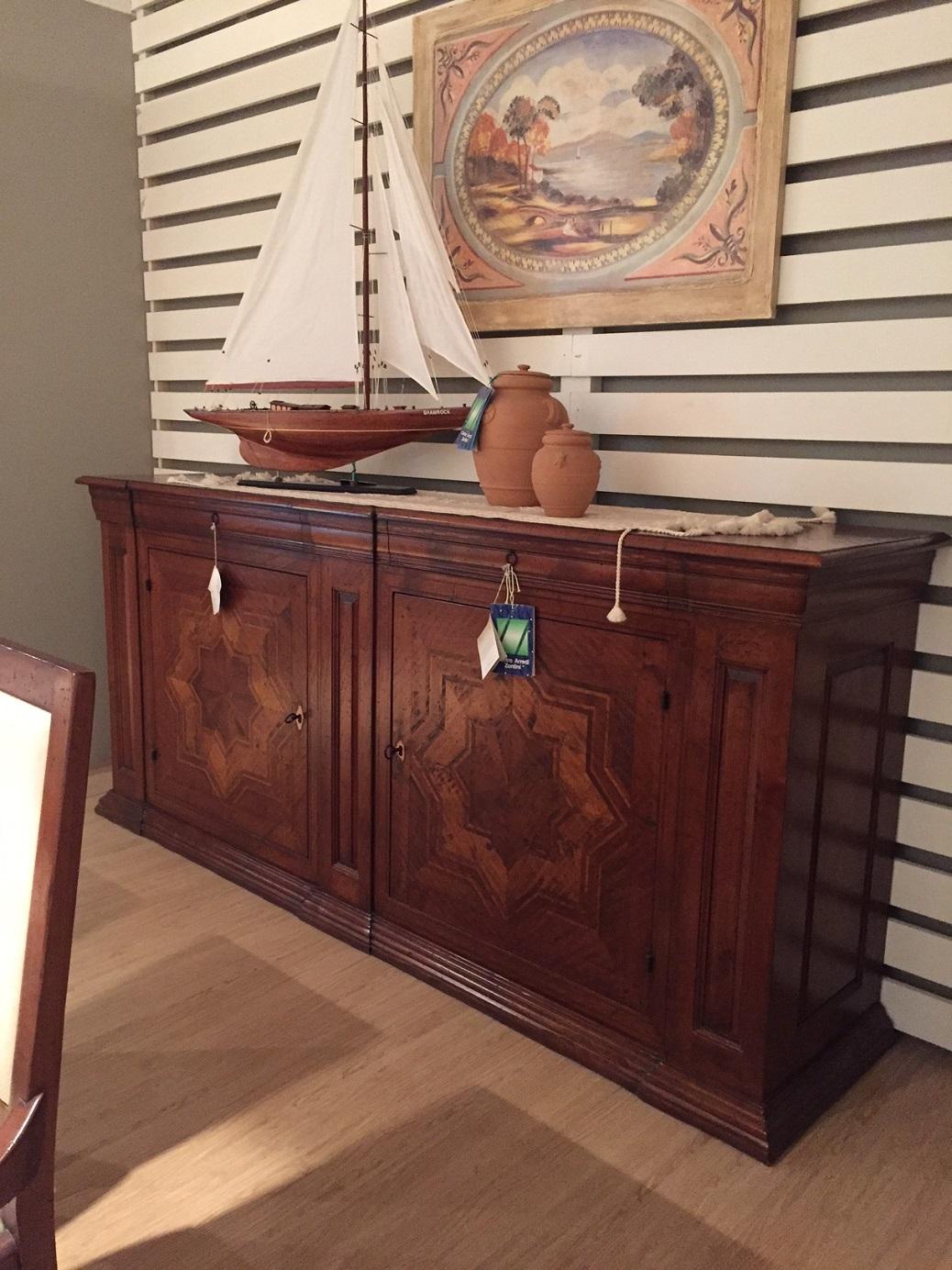 Arte brotto soggiorno vere antichit credenza tavolo con 6 sedie scontato del 65 soggiorni - Mobili arte brotto ...