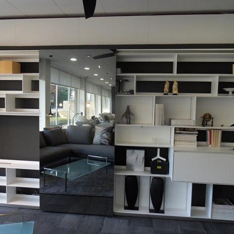 B b soggiorno flat c laccato opaco librerie design for Librerie design outlet