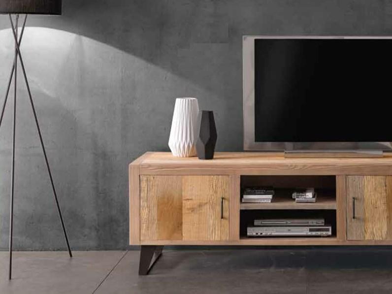 Mobile porte televisione in legno massello