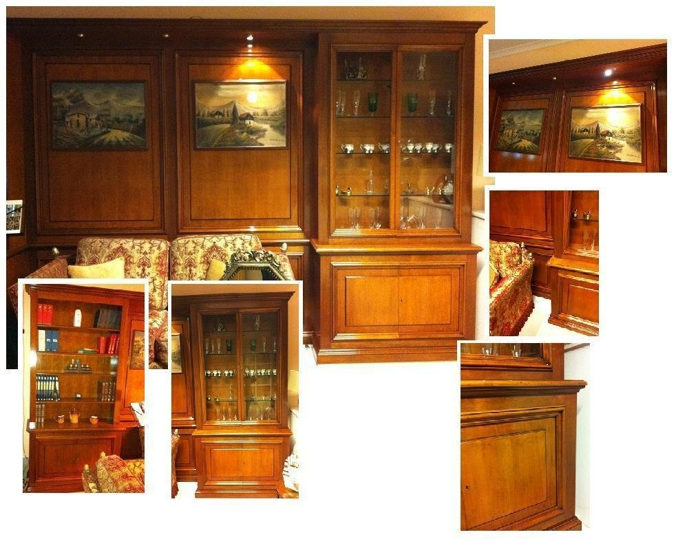 Boiserie in noce massello