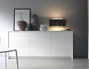 Madia Password di Calligaris, 3 ante, Bianco Ottico Opaco