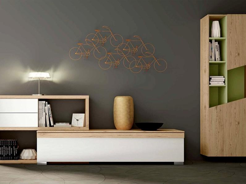Cassettiera e libreria da soggiorno, con finitura in legno, nuove ...