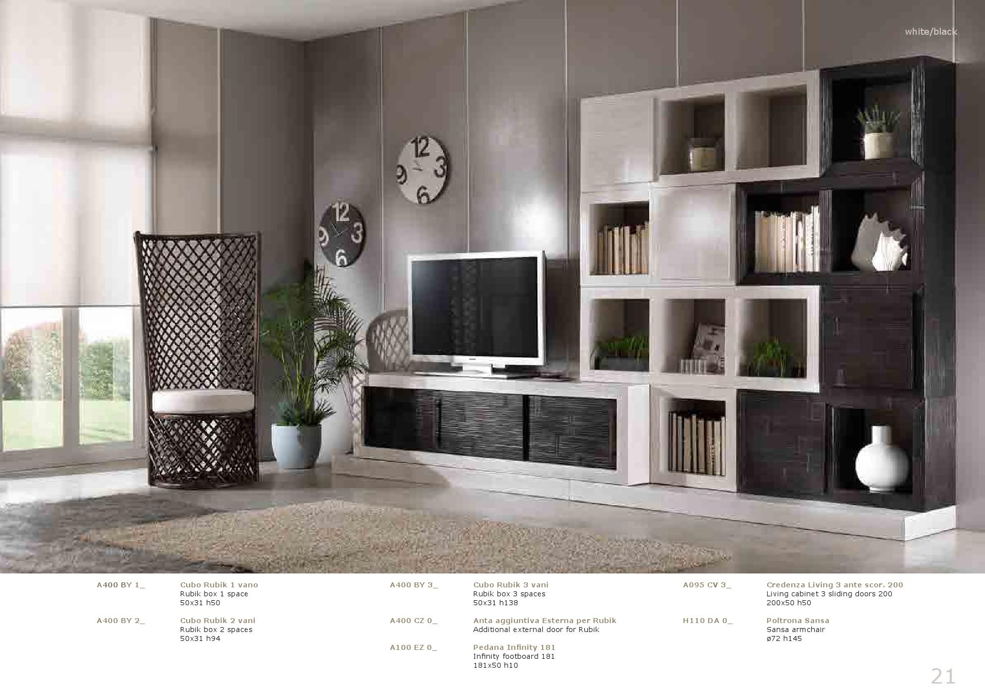 COMPOSIZIONE SOGGIORNO CUBI E ANTE SCORREVOLI Soggiorni A Prezzi  #677556 1984 1403 Mobili Componibili Per Cucina Ikea