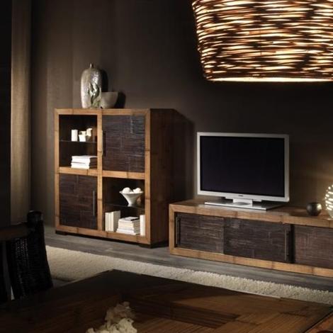 Composizione soggiorno m black 18049 soggiorni a prezzi for Composizione soggiorno