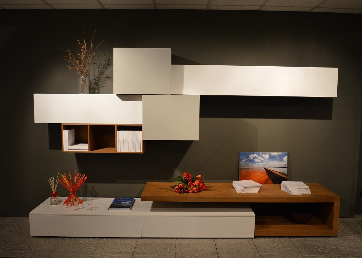 Composizione soggiorno san giacomo modello lampo - Mobile soggiorno bianco e grigio ...
