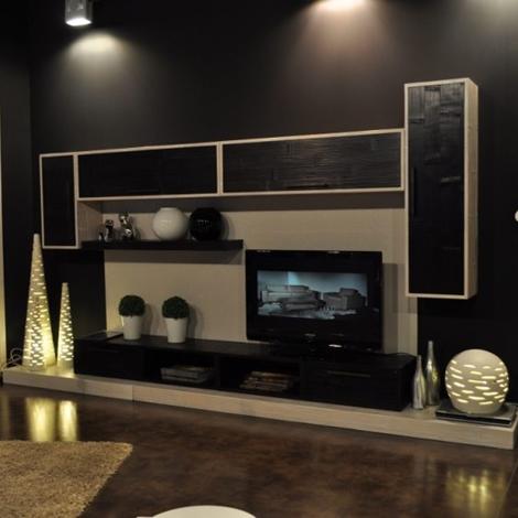 Composizione soggiorno white black soggiorni a prezzi for Composizione soggiorno
