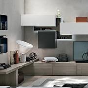 Composizione Tomasella modello A014. Questa composizione aggiungerà un tocco di eleganza e modernità alla parete del soggiorno, grazie alla sua unicità.